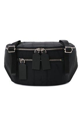 Мужская текстильная поясная сумка VALENTINO черного цвета, арт. WY2B0A91/BWK | Фото 1