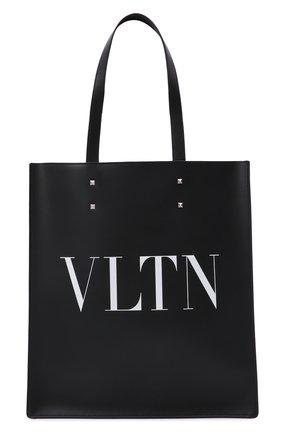 Мужская кожаная сумка-шопер vltn VALENTINO черного цвета, арт. WY2B0731/WJW   Фото 1