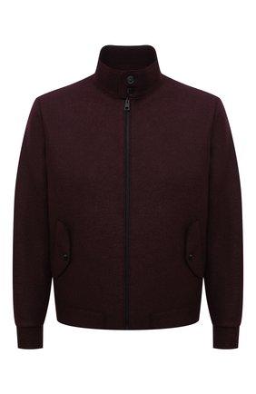 Мужская шерстяная куртка HARRIS WHARF LONDON бордового цвета, арт. C9319MLK-F | Фото 1 (Материал внешний: Шерсть; Рукава: Длинные; Материал подклада: Хлопок; Длина (верхняя одежда): Короткие; Кросс-КТ: Куртка; Мужское Кросс-КТ: шерсть и кашемир; Стили: Кэжуэл)