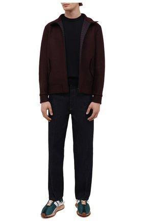 Мужская шерстяная куртка HARRIS WHARF LONDON бордового цвета, арт. C9319MLK-F | Фото 2 (Материал внешний: Шерсть; Рукава: Длинные; Материал подклада: Хлопок; Длина (верхняя одежда): Короткие; Кросс-КТ: Куртка; Мужское Кросс-КТ: шерсть и кашемир; Стили: Кэжуэл)