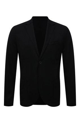 Мужской шерстяной пиджак HARRIS WHARF LONDON черного цвета, арт. C7G27MYM | Фото 1 (Материал внешний: Шерсть; 1-2-бортные: Однобортные; Пиджаки М: Приталенный; Случай: Повседневный; Стили: Кэжуэл; Длина (для топов): Стандартные; Рукава: Длинные)