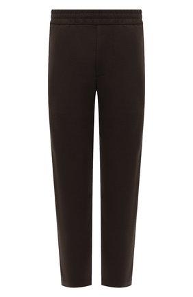 Мужские шерстяные брюки HARRIS WHARF LONDON хаки цвета, арт. C7015MYM | Фото 1 (Материал внешний: Шерсть; Случай: Повседневный; Мужское Кросс-КТ: Брюки-трикотаж; Стили: Спорт-шик; Длина (брюки, джинсы): Стандартные)