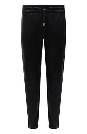 Мужские кожаные джоггеры SAINT LAURENT черного цвета, арт. 664566/YC2MS | Фото 1