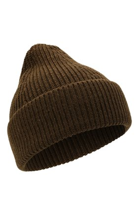 Мужская шапка из хлопка и шерсти MAISON MARGIELA хаки цвета, арт. S50TC0051/S17791 | Фото 1