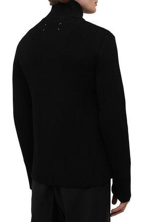 Мужской кардиган из хлопка и шерсти MAISON MARGIELA черного цвета, арт. S50GP0246/S17791 | Фото 4 (Мужское Кросс-КТ: Кардиган-одежда; Материал внешний: Шерсть, Хлопок; Рукава: Длинные; Длина (для топов): Стандартные; Стили: Минимализм)