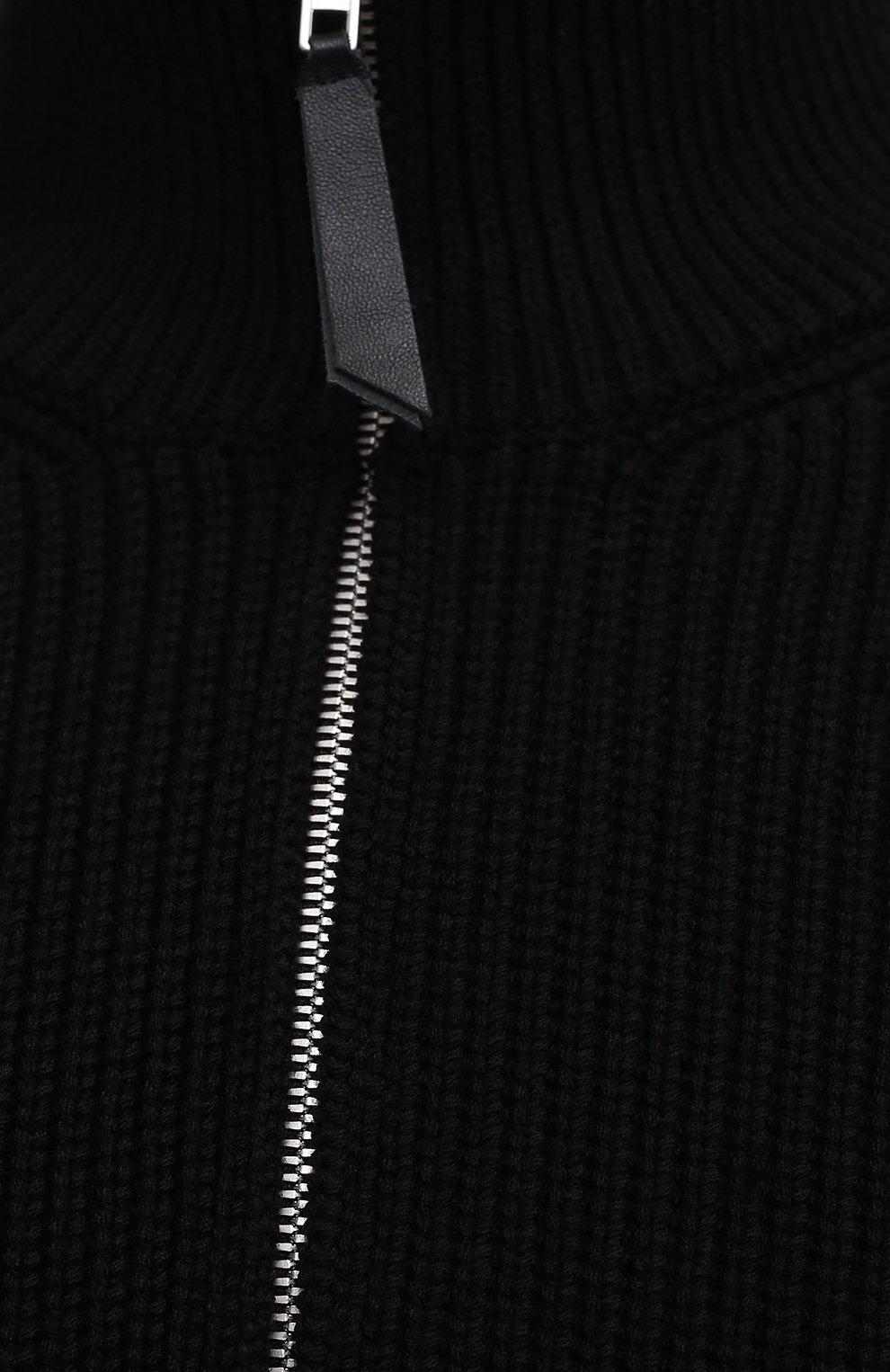 Мужской кардиган из хлопка и шерсти MAISON MARGIELA черного цвета, арт. S50GP0246/S17791 | Фото 5 (Мужское Кросс-КТ: Кардиган-одежда; Материал внешний: Шерсть, Хлопок; Рукава: Длинные; Длина (для топов): Стандартные; Стили: Минимализм)