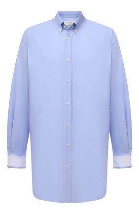 Мужская хлопковая рубашка MAISON MARGIELA голубого цвета, арт. S50DL0473/S52925 | Фото 1