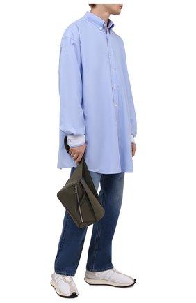 Мужская хлопковая рубашка MAISON MARGIELA голубого цвета, арт. S50DL0473/S52925 | Фото 2