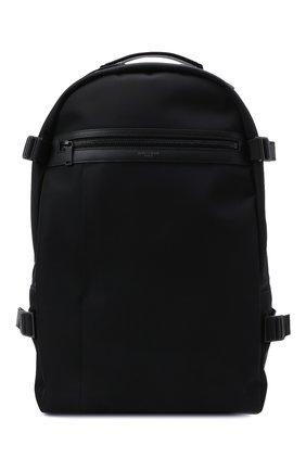 Мужской текстильный рюкзак city SAINT LAURENT черного цвета, арт. 649765/2NC6Z   Фото 1