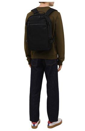 Мужской текстильный рюкзак city SAINT LAURENT черного цвета, арт. 649765/2NC6Z   Фото 2
