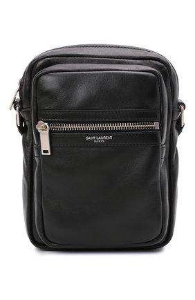 Мужская кожаная сумка sid SAINT LAURENT черного цвета, арт. 581700/1GE0E   Фото 1