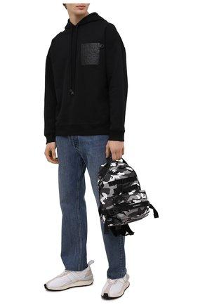 Мужской хлопковое худи LOEWE черного цвета, арт. H526Y25J12 | Фото 2