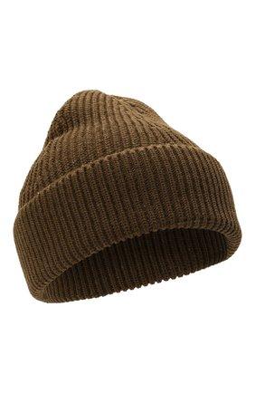 Женская шапка из хлопка и шерсти MAISON MARGIELA хаки цвета, арт. S50TC0051/S17791   Фото 1