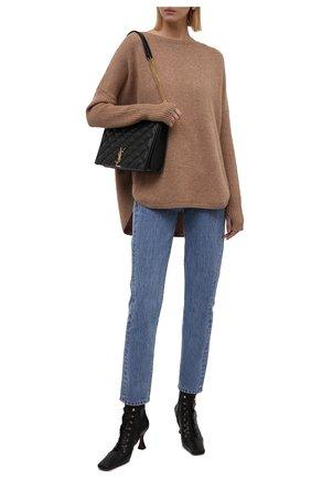 Женский кашемировый пуловер NOT SHY бежевого цвета, арт. 3902051C   Фото 2
