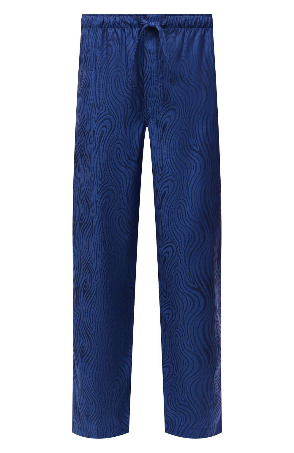 Мужские хлопковые домашние брюки DEREK ROSE синего цвета, арт. 3564-PARI020 | Фото 1 (Длина (брюки, джинсы): Стандартные; Кросс-КТ: домашняя одежда; Мужское Кросс-КТ: Брюки-белье; Материал внешний: Хлопок)