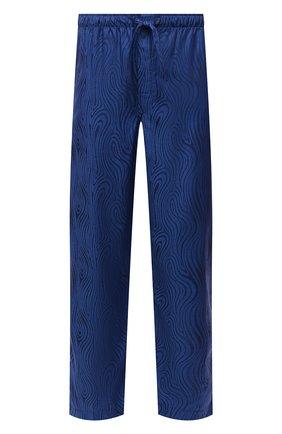 Мужские хлопковые домашние брюки DEREK ROSE синего цвета, арт. 3564-PARI020 | Фото 1