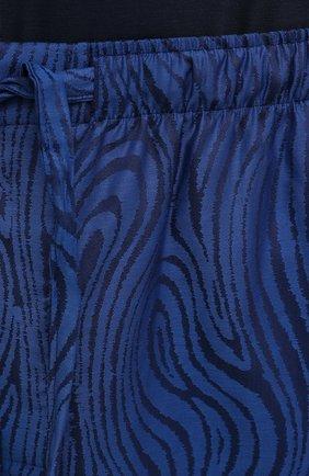 Мужские хлопковые домашние брюки DEREK ROSE синего цвета, арт. 3564-PARI020 | Фото 5 (Длина (брюки, джинсы): Стандартные; Кросс-КТ: домашняя одежда; Мужское Кросс-КТ: Брюки-белье; Материал внешний: Хлопок)