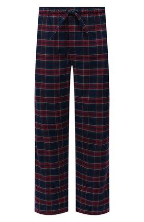 Мужские хлопковые домашние брюки DEREK ROSE темно-синего цвета, арт. 3564-KELB020 | Фото 1