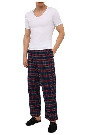 Мужские хлопковые домашние брюки DEREK ROSE темно-синего цвета, арт. 3564-KELB020 | Фото 2
