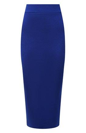 Женская юбка из кашемира и шелка TOM FORD синего цвета, арт. GCK097-YAX320 | Фото 1 (Материал внешний: Шерсть, Кашемир; Стили: Гламурный; Женское Кросс-КТ: Юбка-одежда; Длина Ж (юбки, платья, шорты): До колена, Миди; Кросс-КТ: Трикотаж)