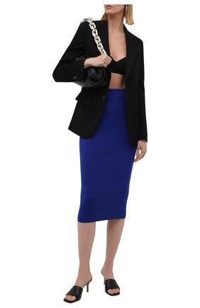 Женская юбка из кашемира и шелка TOM FORD синего цвета, арт. GCK097-YAX320 | Фото 2 (Материал внешний: Шерсть, Кашемир; Стили: Гламурный; Женское Кросс-КТ: Юбка-одежда; Длина Ж (юбки, платья, шорты): До колена, Миди; Кросс-КТ: Трикотаж)