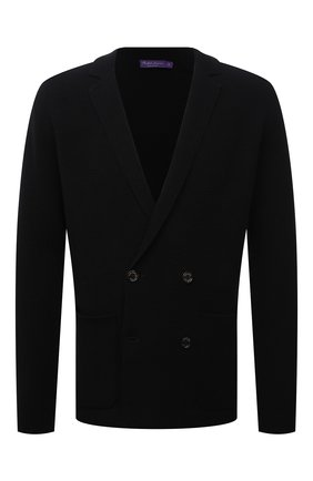 Мужской пиджак из вискозы и шерсти RALPH LAUREN черного цвета, арт. 790841427   Фото 1