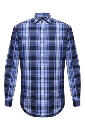 Мужская хлопковая рубашка POLO RALPH LAUREN синего цвета, арт. 710844567/5389   Фото 1