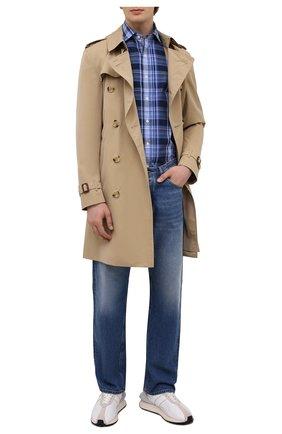 Мужская хлопковая рубашка POLO RALPH LAUREN синего цвета, арт. 710844567/5389   Фото 2