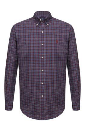 Мужская хлопковая рубашка POLO RALPH LAUREN бордового цвета, арт. 710767399/4115   Фото 1