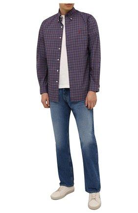 Мужская хлопковая рубашка POLO RALPH LAUREN бордового цвета, арт. 710767399/4115   Фото 2