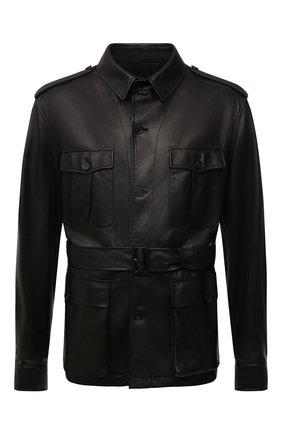 Мужская кожаная куртка RALPH LAUREN черного цвета, арт. 798843748 | Фото 1 (Рукава: Длинные; Материал подклада: Хлопок; Длина (верхняя одежда): Короткие; Кросс-КТ: Куртка; Мужское Кросс-КТ: Кожа и замша; Стили: Кэжуэл)