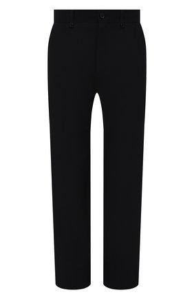 Мужские шерстяные брюки BURBERRY темно-синего цвета, арт. 8042321 | Фото 1