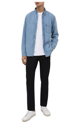 Мужские шерстяные брюки BURBERRY темно-синего цвета, арт. 8042321 | Фото 2