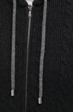 Мужской кашемировый кардиган FIORONI темно-серого цвета, арт. MK23001E1 | Фото 5 (Мужское Кросс-КТ: Кардиган-одежда; Материал внешний: Шерсть, Кашемир; Рукава: Длинные; Длина (для топов): Стандартные; Стили: Спорт-шик)