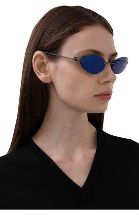 Женские солнцезащитные очки BALENCIAGA синего цвета, арт. 664092/T0005 | Фото 2
