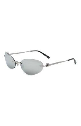 Женские солнцезащитные очки BALENCIAGA серебряного цвета, арт. 664092/T0005 | Фото 1