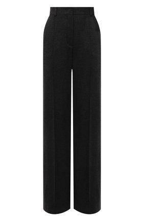 Женские кашемировые брюки LORO PIANA темно-серого цвета, арт. FAL8073 | Фото 1 (Материал внешний: Кашемир, Шерсть; Длина (брюки, джинсы): Удлиненные; Стили: Кэжуэл; Женское Кросс-КТ: Брюки-одежда; Силуэт Ж (брюки и джинсы): Расклешенные)