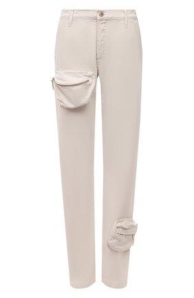 Женские джинсы THE ATTICO кремвого цвета, арт. 213WCP46/D022 | Фото 1