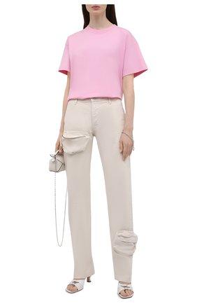 Женские джинсы THE ATTICO кремвого цвета, арт. 213WCP46/D022 | Фото 2