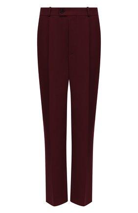 Женские брюки MAISON MARGIELA бордового цвета, арт. S51KA0544/S53220   Фото 1