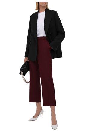 Женские брюки MAISON MARGIELA бордового цвета, арт. S51KA0544/S53220   Фото 2