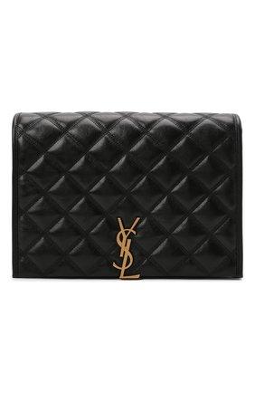 Женская сумка becky small SAINT LAURENT черного цвета, арт. 650770/1D319 | Фото 1 (Материал: Натуральная кожа; Ремень/цепочка: На ремешке, С цепочкой; Сумки-технические: Сумки через плечо; Размер: small)