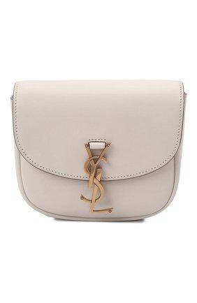 Женская сумка kaia small SAINT LAURENT кремвого цвета, арт. 619740/BWR0W | Фото 1 (Материал: Натуральная кожа; Сумки-технические: Сумки через плечо; Ремень/цепочка: На ремешке; Размер: small)