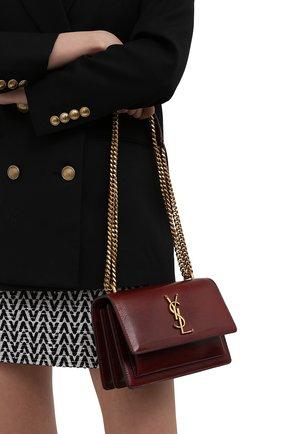 Женская сумка sunset medium SAINT LAURENT коричневого цвета, арт. 441972/1EK0W | Фото 2 (Материал: Натуральная кожа; Ремень/цепочка: На ремешке, С цепочкой; Размер: medium; Сумки-технические: Сумки через плечо)