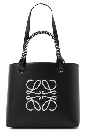 Женский сумка-тоут anagram LOEWE черного цвета, арт. A717S72X11 | Фото 1