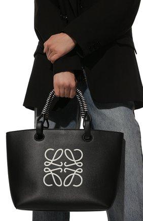 Женский сумка-тоут anagram LOEWE черного цвета, арт. A717S72X11 | Фото 2