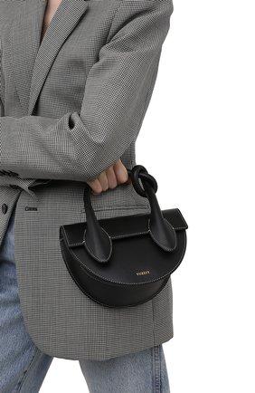 Женская сумка dolores YUZEFI черного цвета, арт. YUZIC0-HB-DL-00   Фото 2
