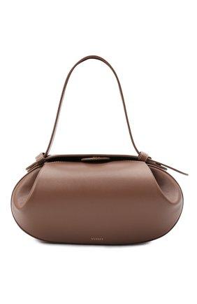Женская сумка loaf YUZEFI бежевого цвета, арт. YUZPF21-HB-L0-14 | Фото 1 (Сумки-технические: Сумки top-handle; Размер: medium; Материал: Натуральная кожа; Ремень/цепочка: На ремешке)