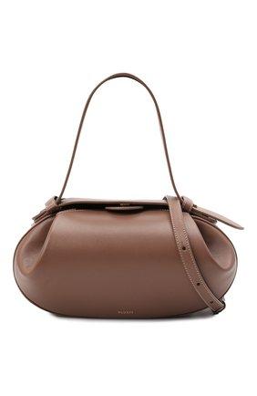 Женская сумка loaf YUZEFI бежевого цвета, арт. YUZPF21-HB-L0-14 | Фото 6 (Сумки-технические: Сумки top-handle; Размер: medium; Материал: Натуральная кожа; Ремень/цепочка: На ремешке)