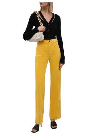 Женские хлопковые брюки POLO RALPH LAUREN желтого цвета, арт. 211843365 | Фото 2